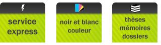 impression express - couleur noir et blanc - these mémoire tpe rapport