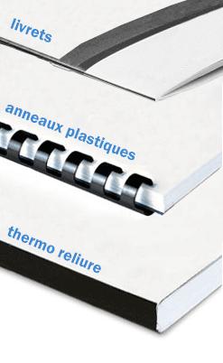 Reliure plastique, reliure thermo, reliure livre magazine Paris
